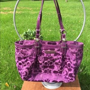 Royal purple Coach purse